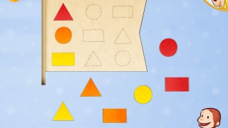Match shapes and sort by color.