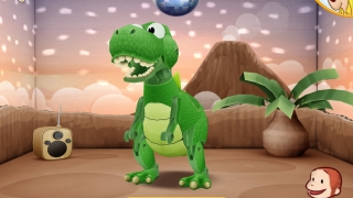 Collect bananas and trophies by making the disco dinosaur dance.