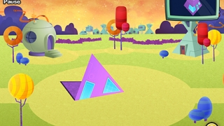 Kids fold 2D shapes to form 3D shapes.