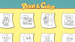 Kids can also print out coloring pages based on the show's characters.