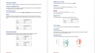 Calculations and graphs can be downloaded into an editable Word document.