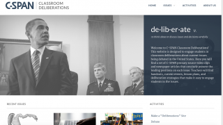 The standalone Classroom Deliberations site is an especially good set of classroom resources and activities.
