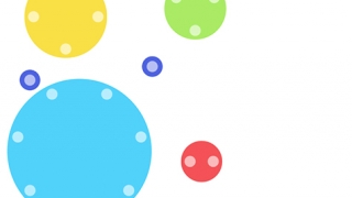 By observing dots of different sizes and colors, kids learn through visualization.