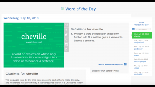 Explore the Word of the Day's definition and origin, and links to the word used in context.
