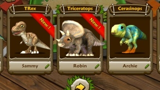 Collect new dinosaurs after discovering them as eggs.