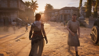 Players can walk around a vibrant world populated with computer-controlled characters.