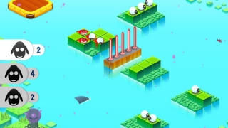 Sheep get chopped up by lasers on later levels; you can use parental controls to disable blood.
