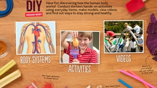 Kids can read, complete hands-on activities, and view videos about five of the human body systems.