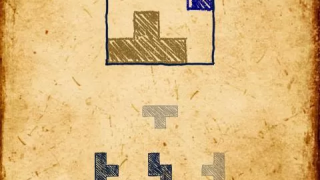 Rectangle puzzle showing pieces used greyed out and two remaining pieces to be placed.