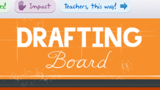 Drafting Board's extremely kid-friendly interface makes navigation easy.
