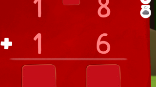 Write numbers with your finger to add conventionally.
