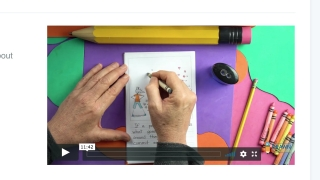 Watch the video and follow along as the illustrator demonstrates how to re-create her drawings.