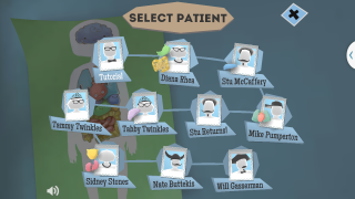 "Users can choose different patients to ""treat."""