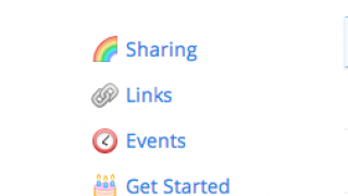 Dropbox has a simple online interface.