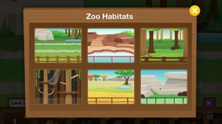 Kids can choose and decorate zoo habitats as rewards.