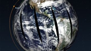 Data sets are captured by earth science satellites.
