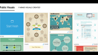 There are more than a million public infographics to choose from.