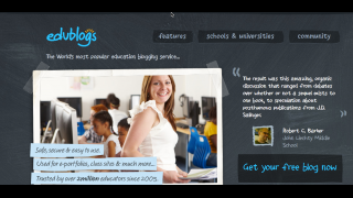 Edublogs has easy setup and strong support services.