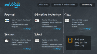 Teachers can use blogs in a variety of ways.