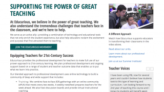 The site's professional development serves as a solid support for broad implementation.