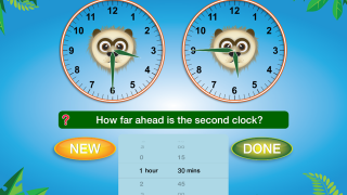 Kids can learn about the more abstract concept of elapsed time.