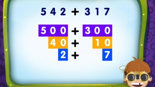 Vertical addition sentences help kids visualize addition using place values.
