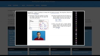 """Some of the videos use a """"talking head"""" embedded in a screenshot of the worksheet."""