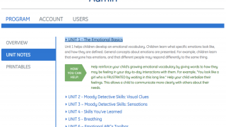 The Admin dashboard helps provide tips, login support, and lesson plans.