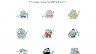 Students start by selecting their own avatar and picture password.