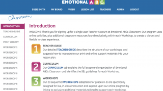 Teachers can easily print lessons and lesson plans.