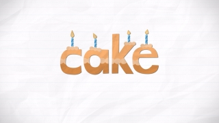 When kids finish spelling a word, they see a little animation of what the word represents -- here a cake.