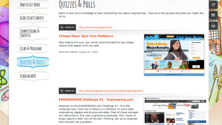 The site includes links to lots of resources for college-ready girls interested in engineering.