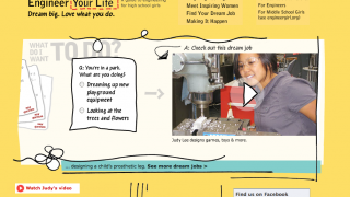 The main page includes rotating video clips and links to more information.
