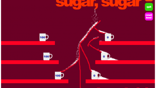 Sugar, Sugar empowers kids to direct the sugar cube stream with an open-ended drawing tool.