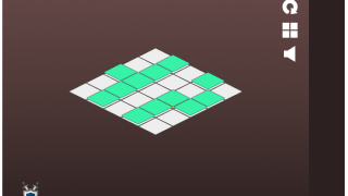 Koutack has simple rules: click adjacent squares to stack and create one stack in the end.