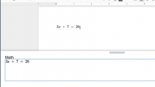 Add equations to Google Docs.
