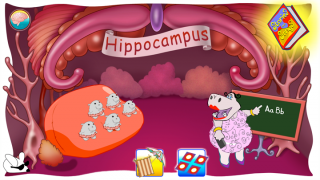 Fun characters, like Ms. Hippo, explain each part of the brain.