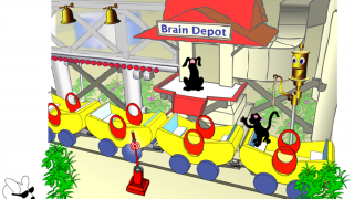 Mini-games let kids practice using the part of the brain that they were just learning about.