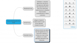 An example mind map shows the built-in features and how they work.