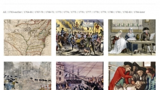 Online timeline displays images and content.