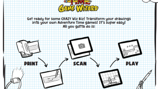 The first page of the Adventure Time Game Wizard handout