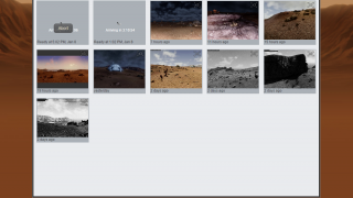 The gallery shows photos taken and indicates when the next images will arrive.