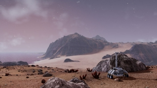 The surface of the planet is pretty sparse, but has some nice views.