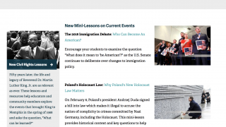 Check out the new and featured materials in the Education Resources section for timely info.