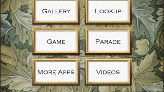 Famous Paintings features a simple interface includes search, gallery, and quizzes.