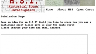 The HSI Project encourages feedback and ideas for new cases.
