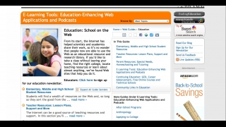 An education section provides additional resources for parents and teachers.