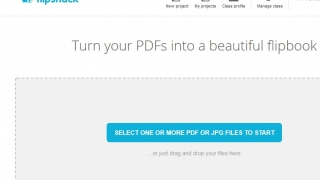 Drag and drop pdf or jpg files into place to compile a flipbook of them.