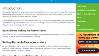 "The ""Writing Academic Rhymes"" guide could help to inspire reluctant students."