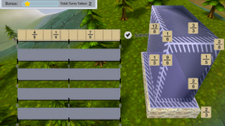 Add fractions and add bricks to your buildings.